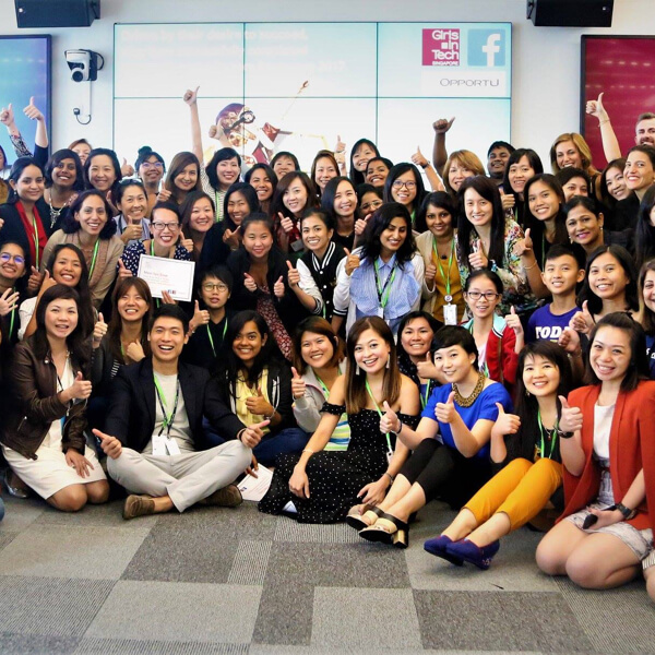 Zwee Wee Zihuan a judge at the Girls in Tech x Facebook startup success factors bootcamp 2017 image
